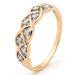 Image of Diamond Rose Gold Ring - Dreamweaver (R23280)
