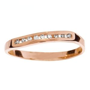 Image of Diamond Rose Gold Ring - Channel Set (R23521)