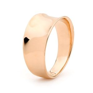 Image of Rose Gold Ring - Concave (R42037)