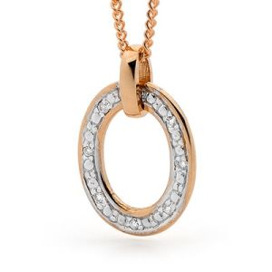 Image of Diamond Rose Gold Pendant - Circle of Life (R65460)