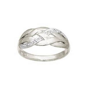 Image of Diamond White Gold Ring - Plait (W24058)