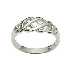 Image of White Gold Ring - Plait (W42135)