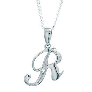 Diamond White Gold Pendant - R (W61396/R)