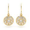 Cubic Zirconia CZ Gold Earrings - Pave