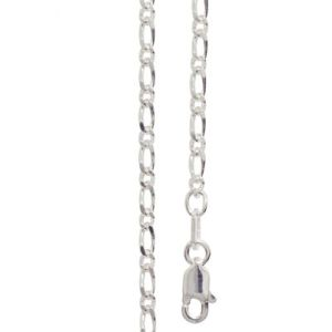 Image of Silver Necklace - Figaro 1+1 Chain 2.5mm x 55cm (1400155)