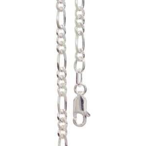 Image of Silver Necklace - Figaro 1+3 Chain 2.0mm x 55cm (1400755)