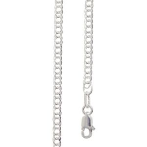 Image of Silver Necklace - Curb Chain Double 3.00mm x 55cm (1401755)
