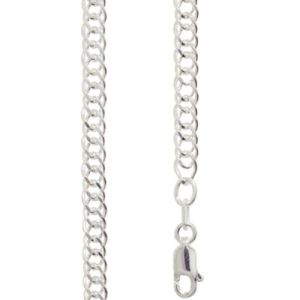 Image of Silver Necklace - Curb Chain Double 4.00mm x 40cm (1401840)