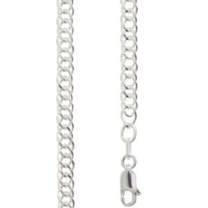 Image of Silver Necklace - Curb Chain Double 4.00mm x 55cm (1401855)