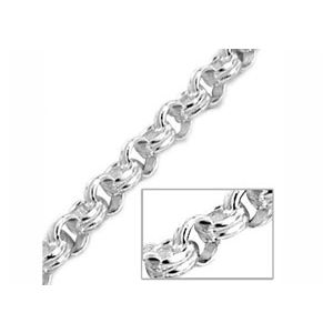 Image of Silver Necklace - Belcher Chain Fancy 45cm (1406245)
