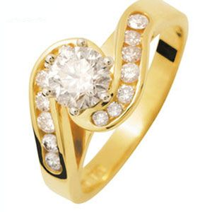 Image of Diamond 18ct Yellow Gold Ring - Engagement GIA971 (18Y24513/GIA971)