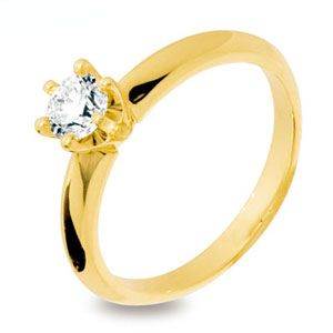 Image of Diamond Gold Ring - Engagement 6 Claw (18Y24671A50)