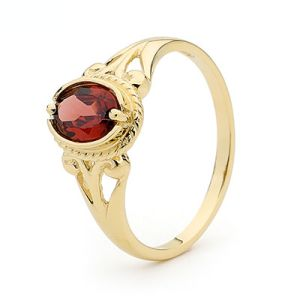 Image of Garnet Gold Ring - Antique (21673/GT)