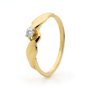 Image of Diamond Gold Ring - Solitaire (21706)