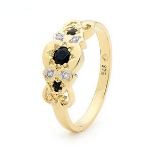 Image of Sapphire and Diamond Gold Ring - Fancy (21961/S)