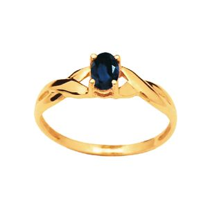 Image of Black Sapphire Gold Ring - Twist (23437/SLG)
