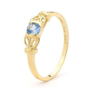 Image of Blue Topaz Gold Ring (23925/BT)