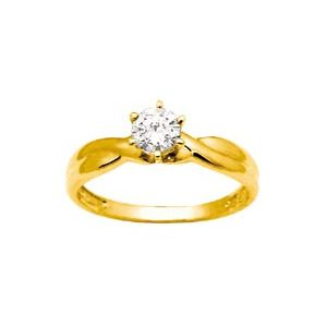 Image of Cubic Zirconia CZ Gold Ring - Twist (23935/CZ)