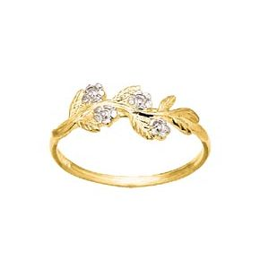 Image of Diamond Gold Ring - Floral (24071)