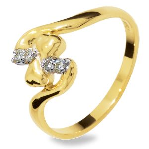 Image of Diamond Gold Ring - Freeform (24845)