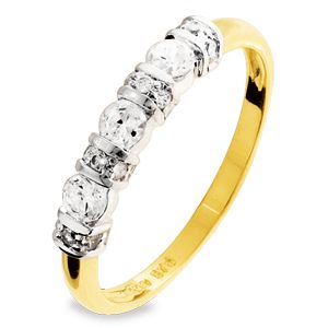 Image of Cubic Zirconia CZ Gold Ring - Eternity (25050/CZ)