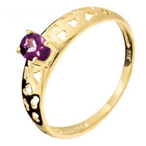 Image of Amethyst Gold Ring - Leopard (25159/AM)