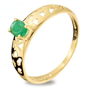 Image of Emerald Gold Ring - Leopard (25159/E)