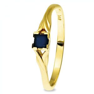 Image of Sapphire Gold Ring (25234/S)