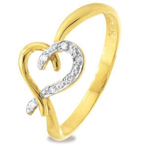 Image of Diamond Gold Ring - Heart of Diamonds (25247)