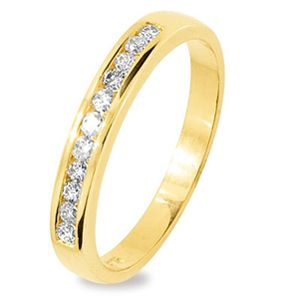 Diamond Gold Ring - Anniversary Wedder