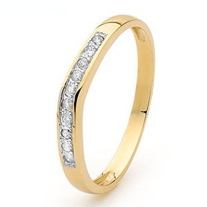 Image of Diamond Gold Ring - Eternity Setting (25332/C10)