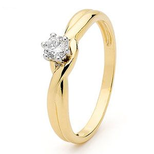 Diamond Gold Ring - Engagement Solitaire