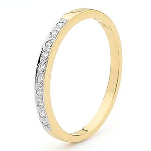 Image of Diamond Gold Ring - Eternity Pave (25354/C10)