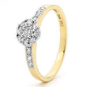 Image of Diamond Gold Ring - Engagement (25397/B32)
