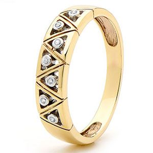 Diamond Gold Ring - Band