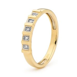 Image of Diamond Gold Ring - Eternity Style (25441)