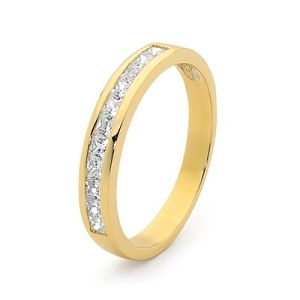 Image of Diamond Gold Ring - Eternity Band (25514)