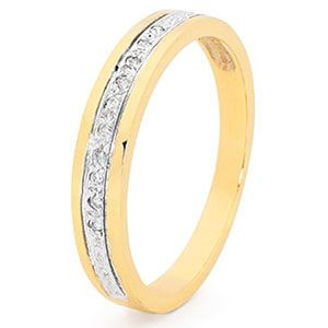 Image of Diamond Gold Ring - Eternity Band Pave (25516)