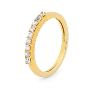 Image of Cubic Zirconia CZ Gold Ring - Wedding Eternity (25567/CZ)