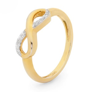 Image of Diamond Gold Ring - Infinity (25568)