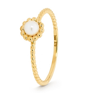 Image of Pearl Gold Ring (25641/P)