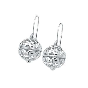 Image of Silver Earrings - Ball (33017)