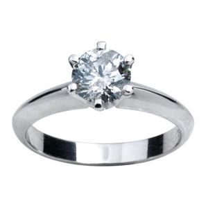 Image of Cubic Zirconia CZ Silver Ring - Promise Ring (34672/CZ)