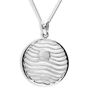 Image of Silver Pendant - Circle Wave (35134)