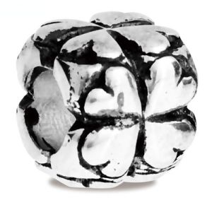 Image of Silver Charm - Lucky Four Leaf Clover Bead (35169)