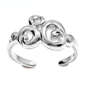 Image of Silver Toe Ring - Swirl (35273)