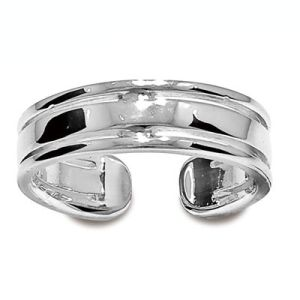 Image of Silver Toe Ring - Ribbed (35279)