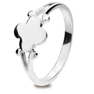 Image of Silver Ring - Signet Size H (35304'H)