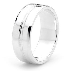 Image of Silver Ring - Men's Size U (35383U)