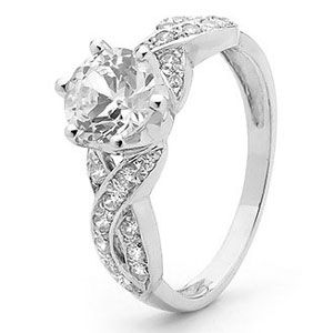 Image of Cubic Zirconia CZ Silver Ring - Infinity (35403/CZ)